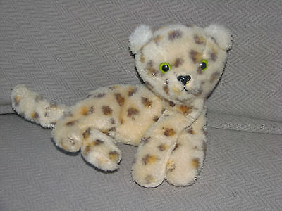1976 Vintage R Dakin Stuffed Plush Spotted Cheetah Leopard Cat Kitty Kitten Spot