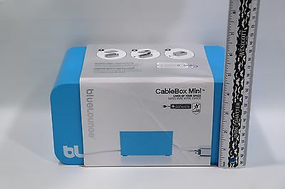 Bluelounge CableBox Mini Cable Management Box Blue 9.3x4.6x5.2in Box only