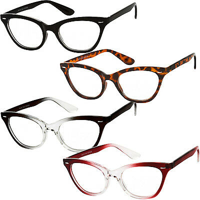 Reading Glasses Cat Eye Fashion Reader Clear Lens Womens Power Strength New