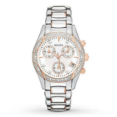 Bulova Women's 98R149 Anabar Chronograph Rose Gold Stainless Steel  Dress Watch