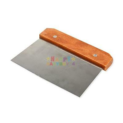 Wood Handle Crinkle Wax Vegetable Soap Cutter Straight Slicer Stainless Steel