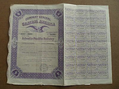 Une Actions Titres  Emprunts Company General Of Central America 1909