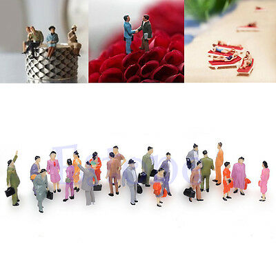 Chic 100pcs 1:150 Building Layout Model People HO Scale Painted Figure Passenger
