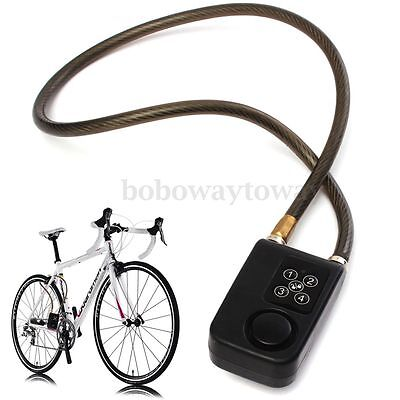 Safe Electric Password Anti-Theft Security Bicycle Alarm Lock Chain Bike Guard