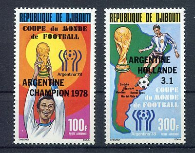 s5355) DJBOUTI 1978 MNH** W.C. Football - C.M. Calcio 2v.-OVPTD WINNERS