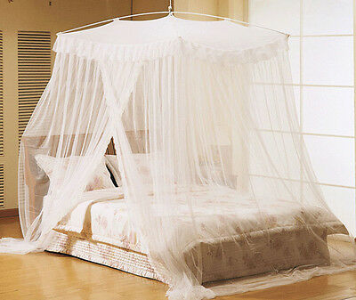 Mosquito Net Bed Lace Canopy Netting Curtain Dome Bedding Full Queen King Size