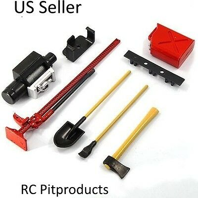 1:10 Scale RC Rock Crawler Accessory Decor Tools Set For RC Crawler US Seller
