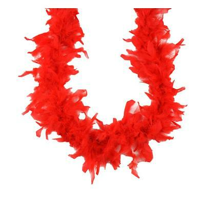 Feather Boa Fancy Dress Party Hen Night Burlesque Costume Fluffy Boas 2m Red