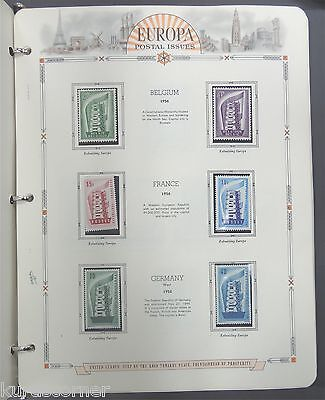 Europa 1956-1961 & 1958 World's Fair Common Design Collections White Ace Pages