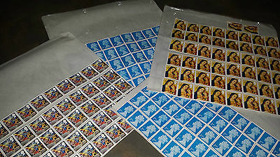 100 2Nd Class Stamps Easy Peel With Gum £56.00 Face Value Off Paper Unfranked