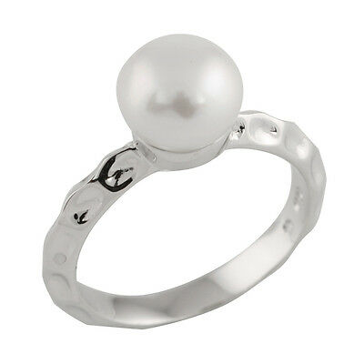 Fancy Sterling Silver ring with freshwater pearl RS-102