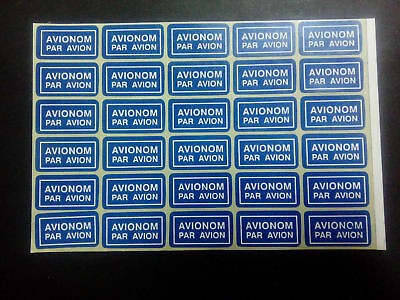 Serbia Airmail Labels Stickers Par Avion Pane of 30 adhesive Free Shipping