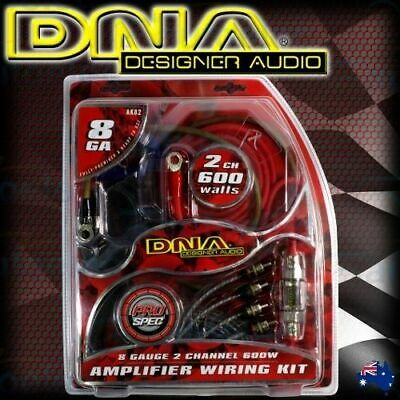 Dna 600W Car Audio 2 Channel Power Amplifier Amp Wiring Rca Kit Cable Rca Ak82