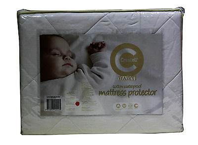 Crestell- 2 Pack -Cotton Filled Waterproof  Cradle Cot Mattress Protector