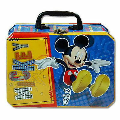Tin Metal Lunch Snack Toy Box Disney Mickey Mouse NEW