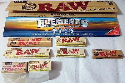 Rolling Papers Raw  Kingsize Classic Organic Hemp Supernatural Single Wide