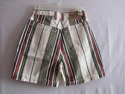 Vintage 90s Womens size 9/10 High Waisted Shorts Union Bay Striped Cotton Canvas