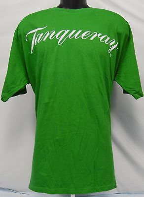 Men's Tanqueray Green Short Sleeve Cotton T-Shirt - Size XL - NOS