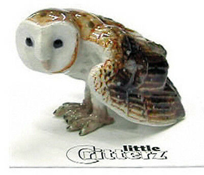 ➸ LITTLE CRITTERZ Bird Miniature Figurine Barn Owl Paleface