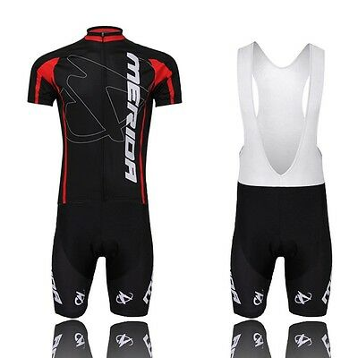 Merida Short Sleeve Bike Bicycle Jerseys Suit Cycling Jerseys & (Bib) Short Sets