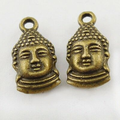 20X Antiqued Style Bronze Tone Buddha Pendant 13*8*5mm Findings Charms