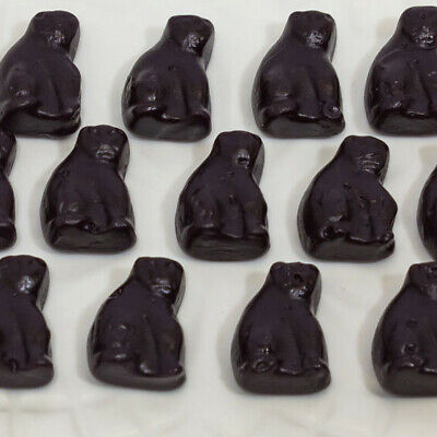Black Cats - 1kg  - Allseps - Aniseed Flavoured Gummy Lollies Post Included