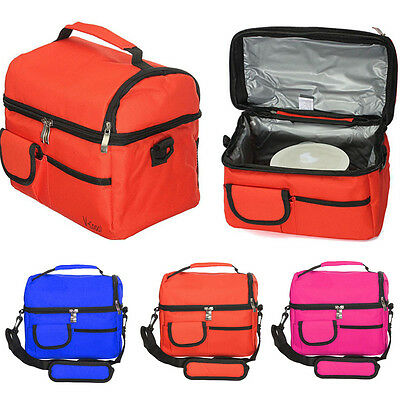 Travel BBQ Camping Picnic Lunch Insulated Cooler Cool Ice bag Food Drink Carrier