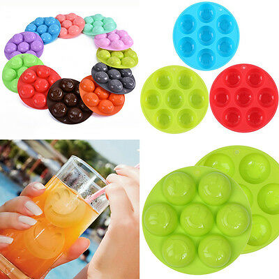 New 3D Smile Face Silicone Ice Cube Round Ball Mould Molds Tray Sphere Party Bar