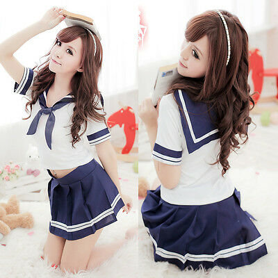 Cosplay Japanese School Girl Students Sailor Uniform Anime Fancy Dress Costume