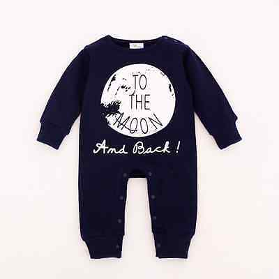 Baby Boy Kids Toddler Warm Long Sleeve Romper Jumpsuit Round Collar Clothes
