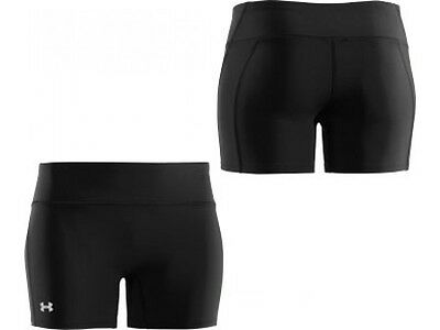 "Under Armour 4"" Compression Ladies Running Short Tight - Black Small 1236554-001"