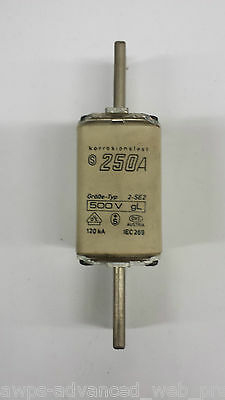 Superflink, Sicherung/fuse, 2-SE2 250A 500V gL, Beinh. 3St/Lot of 3pcs, NEU/NEW