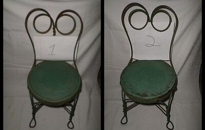 CHAIRS Set of 2 ~ Twisted Metal Childs Chair ~ Soda Fountain / Ice Cream Parlor
