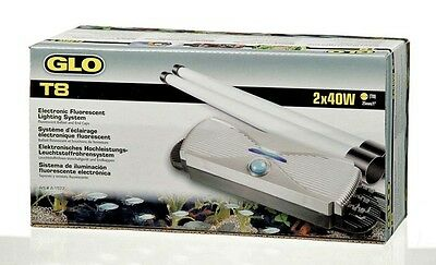 Hagen Dual GLO T8 Electronic Lighting System 2 x 20w Aquarium Light Unit