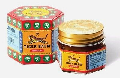 10 g Tiger Balm Red Relief of Muscular Aches Pain Sprains Ointment Massage Rub
