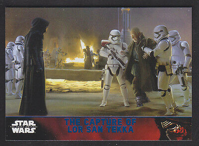 Topps Star Wars - The Force Awakens - Blue Parallel Card # 65