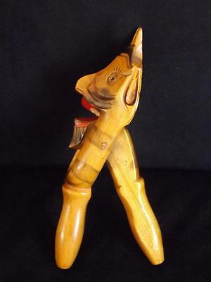 Russian Nutcracker Hand Carved Hand Painted Wood Devil Face
