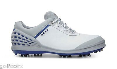 New In Box Ecco Cage Golf Shoes White/blue