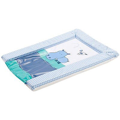 By Carla Large Happy Hippo Changing Mat, Blue