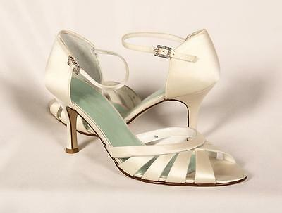AUTHENTIC Filippa Scott Clare Ivory Size 10.5 Bridal Shoes RETURN POLICY