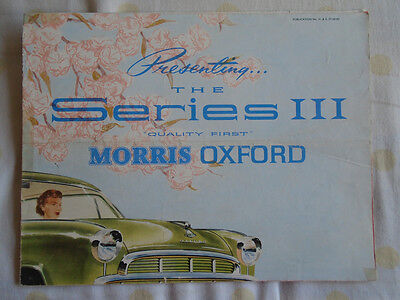 Morris Oxford Series III brochure Jun 1957