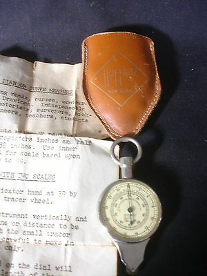 Old Vtg German Hoffritz Map Distance Mileage Meter w/ Leather Pouch & Paperwork