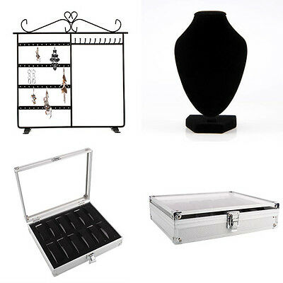Jewelry Display: Necklace Bust/ Earring Stand Holder/ Watch Storage Case