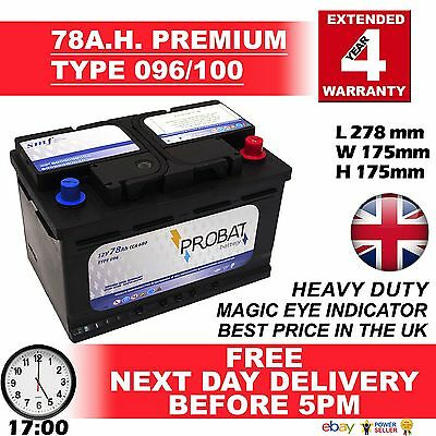 068 Titanium Sealed Car Battery 12V 550CCA - Free Next Day Delivery