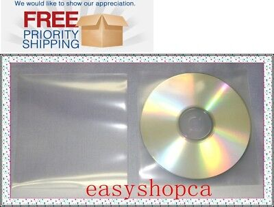2000 Premium 120 microns Clear CPP Plastic CD DVD Sleeve Bag without Flap , NF