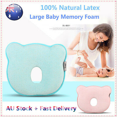 Newborn Baby Pillow Memory Foam Prevent Flat Head Anti Roll support Neck Bear SH