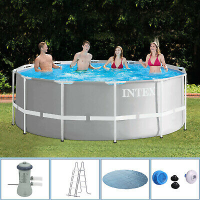 Intex 366x122 Komplettset Swimming Pool Schwimmbad Frame Metal Stahlwand