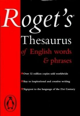 Roget's Thesaurus of English Words And Phrases by Roget, Peter Hardback Book The