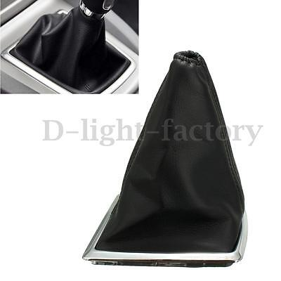PU Leather Gear Gaiter Boot Knob Cover Handbrake For Ford Focus 2005-2012 Black