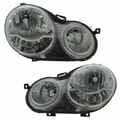 VW Polo 9N 2002-2005 Chrome Front Headlight Headlamp Pair Left & Right